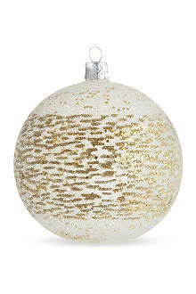 ORNEX Gold speckled bauble 10cm