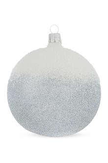 ORNEX Silver ombre glitter bauble 10cm