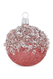ORNEX Glitter pink bauble