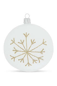 ORNEX Frosted gold snowflake bauble 10cm