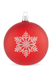 ORNEX Frosted snowflake bauble