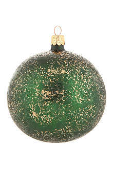 ORNEX Dark green and gold flecked bauble