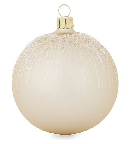 HANGING ORNAMENT Glitter glass bauble 8cm