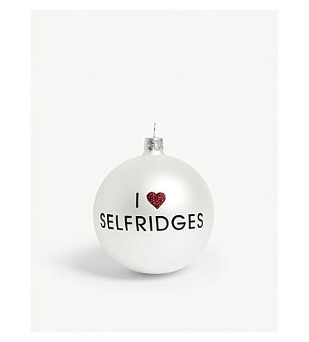 HANGING ORNAMENT I love selfridges bauble 8cm