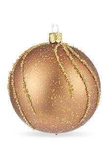 ORNEX Gold glitter drip bauble 10cm