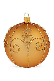 ORNEX Traditional gold swirl bauble