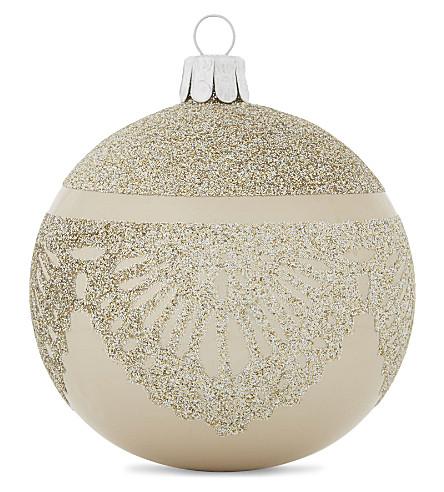 HANGING ORNAMENT Glitter glass bauble 8cm