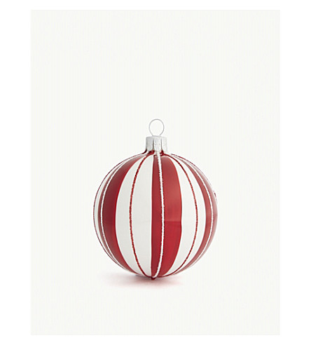 HANGING ORNAMENT Candy stripe bauble 8.5cm