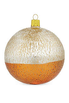 ORNEX Metallic textured bauble