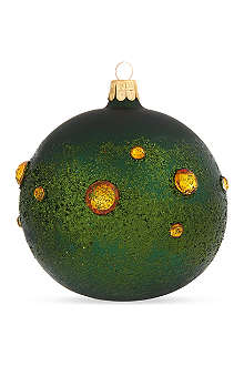 ORNEX Dark green crystal bauble 10cm