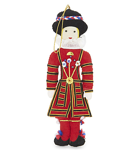 HANGING ORNAMENT Beefeater tree decoration 17cm