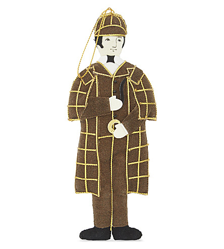 HANGING ORNAMENT Sherlock Holmes tree decoration 15.5cm