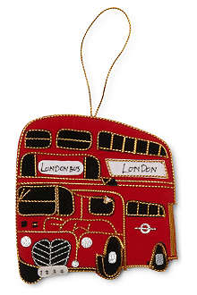 ST NICOLAS London Bus tree decoration 9cm