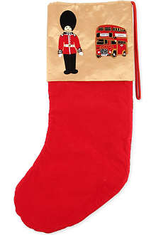ST NICOLAS London Bus and Guardsmen large stocking