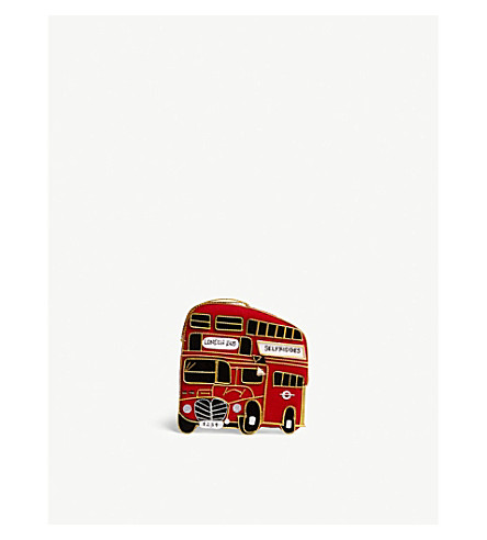 HANGING ORNAMENT Selfridges London bus hanging decoration 9cm