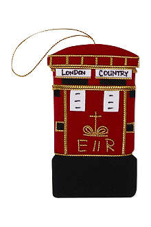 ST NICOLAS Postbox tree decoration 10cm