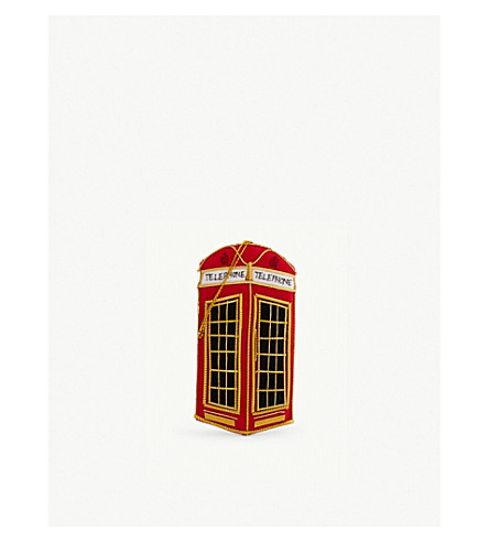 CHRISTMAS London Telephone Box tree decoration 10cm
