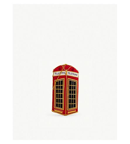 CHRISTMAS London telephone box hanging ornament 10cm