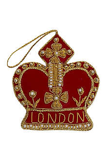 ST NICOLAS Royal Crown tree decoration 9cm