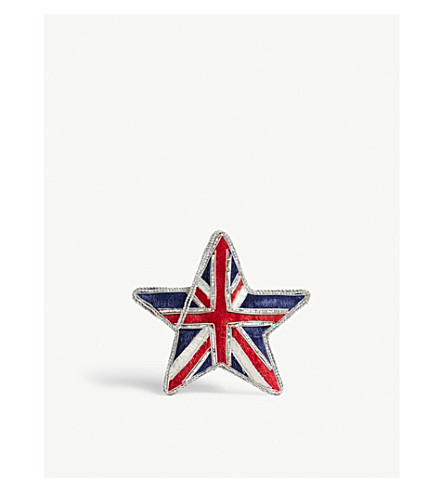 HANGING ORNAMENT Union Jack star hanging decoration 10cm