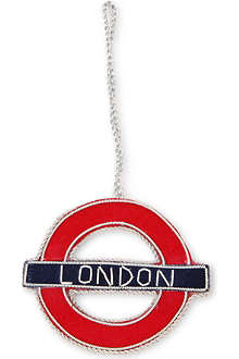 ST NICOLAS London Underground tree decoration