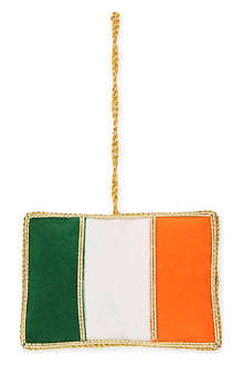 ST NICOLAS Irish flag tree decoration