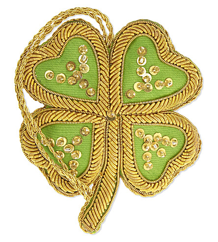 HANGING ORNAMENT Four leaf clover hanging decoration 7cm