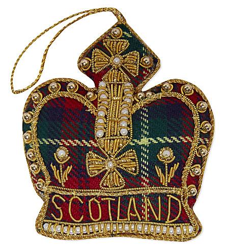 ST NICHOLAS Scotland crown tree decoration 10cm