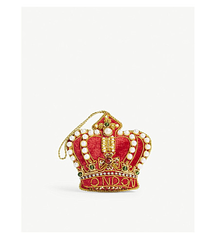 CHRISTMAS London crown hanging decoration 9cm