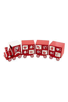 PREMIER DECORATIONS Wooden advent calendar train