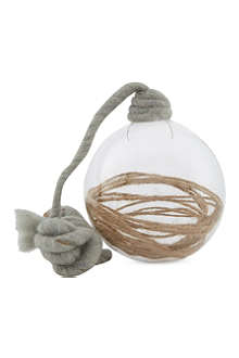 PREMIER DECORATIONS Clear glass string bauble 10cm