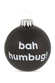 SANTA BALLS Bah Humbug bauble
