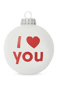 SANTA BALLS 'I love you' bauble