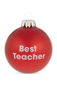 SANTA BALLS Best teacher bauble