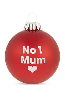 SANTA BALLS No. 1 Mum Christmas bauble