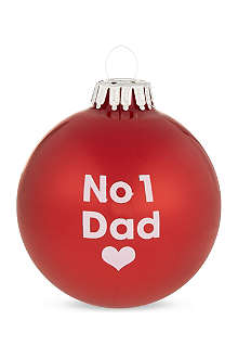SANTA BALLS 'No 1 dad' Christmas bauble