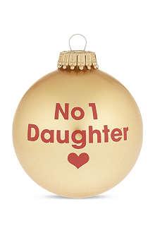 SANTA BALLS 'No 1 daughter' bauble