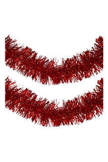K A WEISTE OY Facetted red tinsel 2m