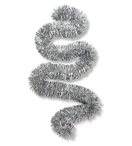 CHRISTMAS Silver tinsel 2m