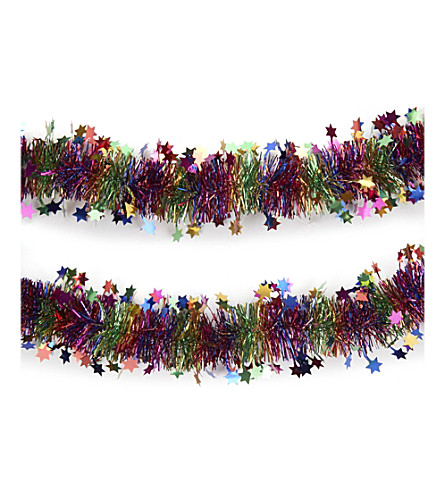 HANGING ORNAMENT Star tinsel 2m
