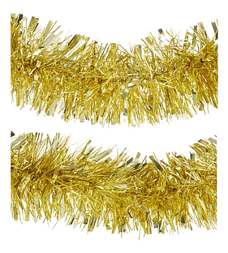HANGING ORNAMENT Textured tinsel garland 170cm