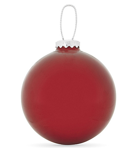 HANGING ORNAMENT Mirrored bauble 9.5cm