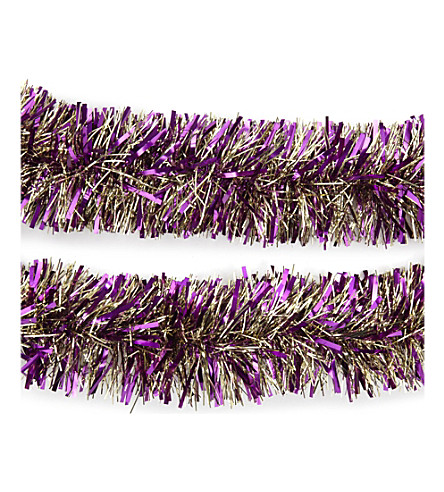 HANGING ORNAMENT Christmas multi-coloured tinsel