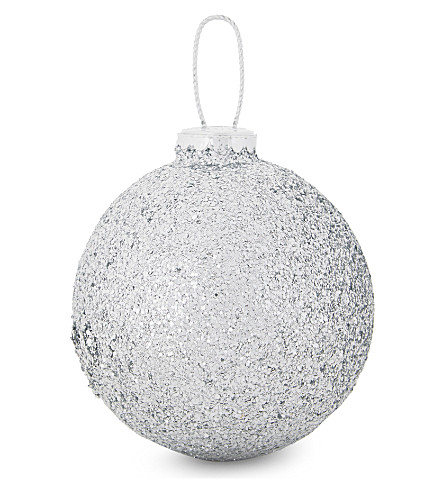 HANGING ORNAMENT Glitter bauble 9.5cm