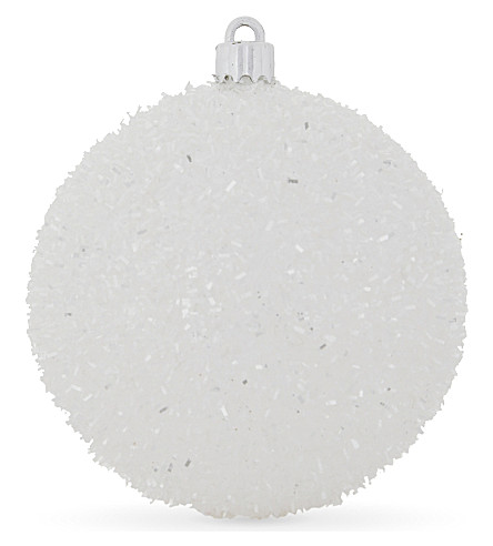 HANGING ORNAMENT Fluffy glitter bauble 10cm