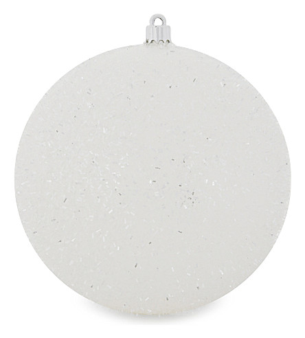 HANGING ORNAMENT Fluffy glitter bauble 15cm