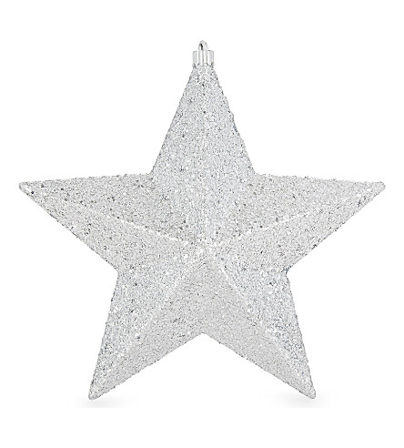 HANGING ORNAMENT Glitter star decoration 22cm