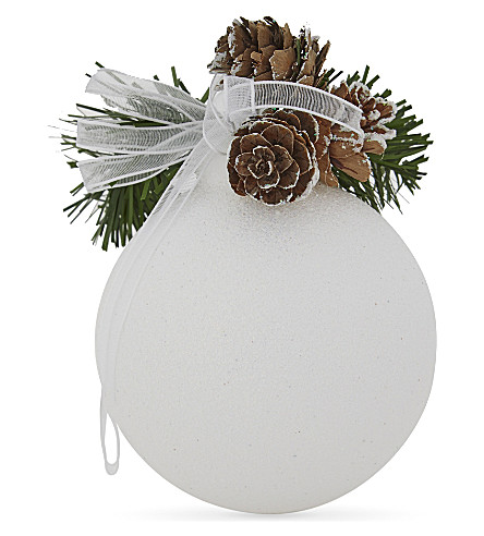 HANGING ORNAMENT Spruce scented glitter bauble