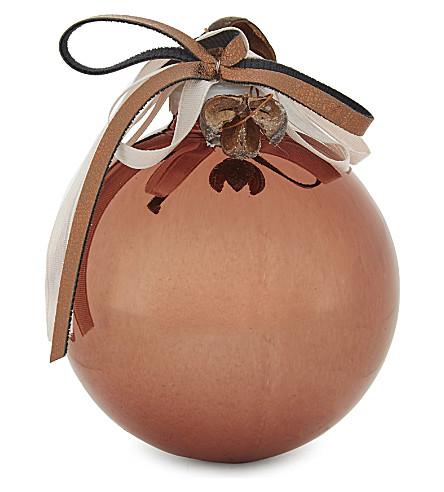 HANGING ORNAMENT Christmas liqueur scented bauble 8.5cm