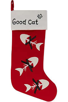 KURT ADLER Good Cat stocking